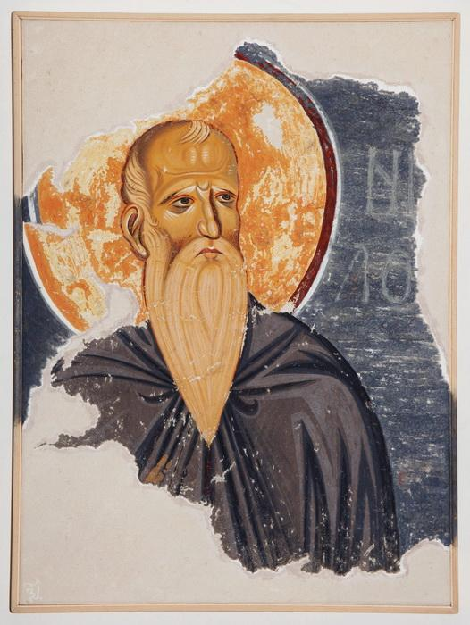 Serbia, Monastery Studenica, The Saint Nill, copy of the fresco