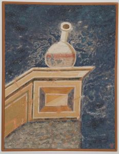 Serbia, Studenica, Evangelist`s bottle with red ink, copy of fresco