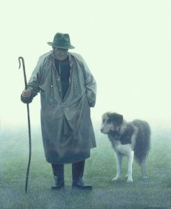 Shepherd and the dog