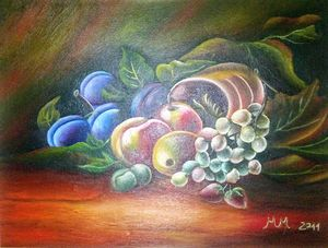 Spill out fruit