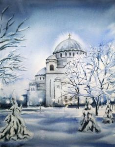 St. Sava Temple ,Winter