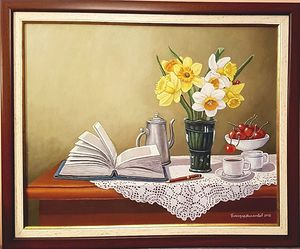 Still life with daffodils