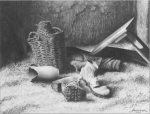 Still Life with Old Shoes