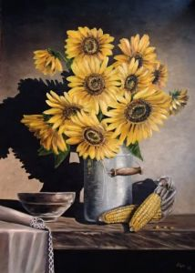 Sunflower and corn