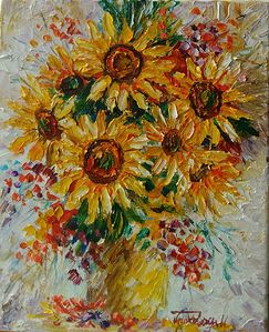 Sunflowers in vase 1
