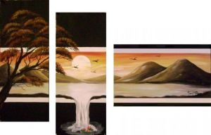 Sunset -decorative painting