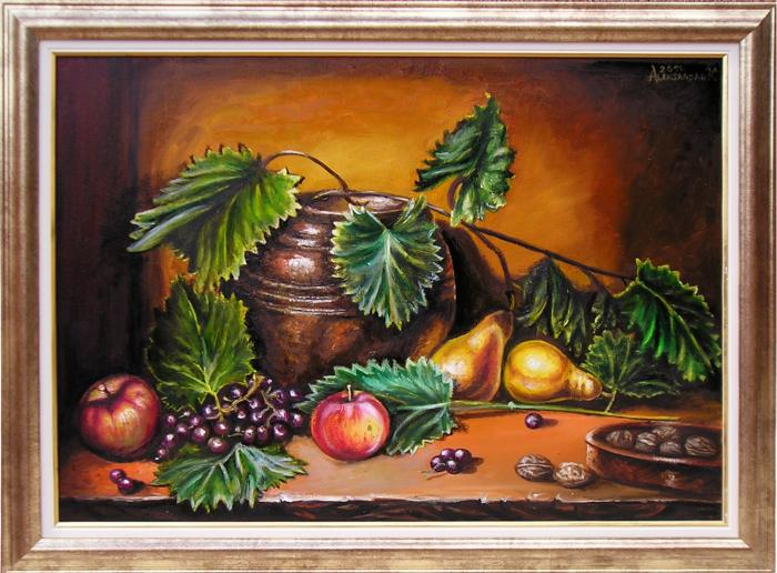 Table with fruits