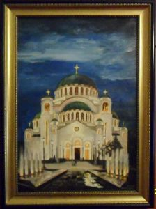 Temple of Saint Sava at Night