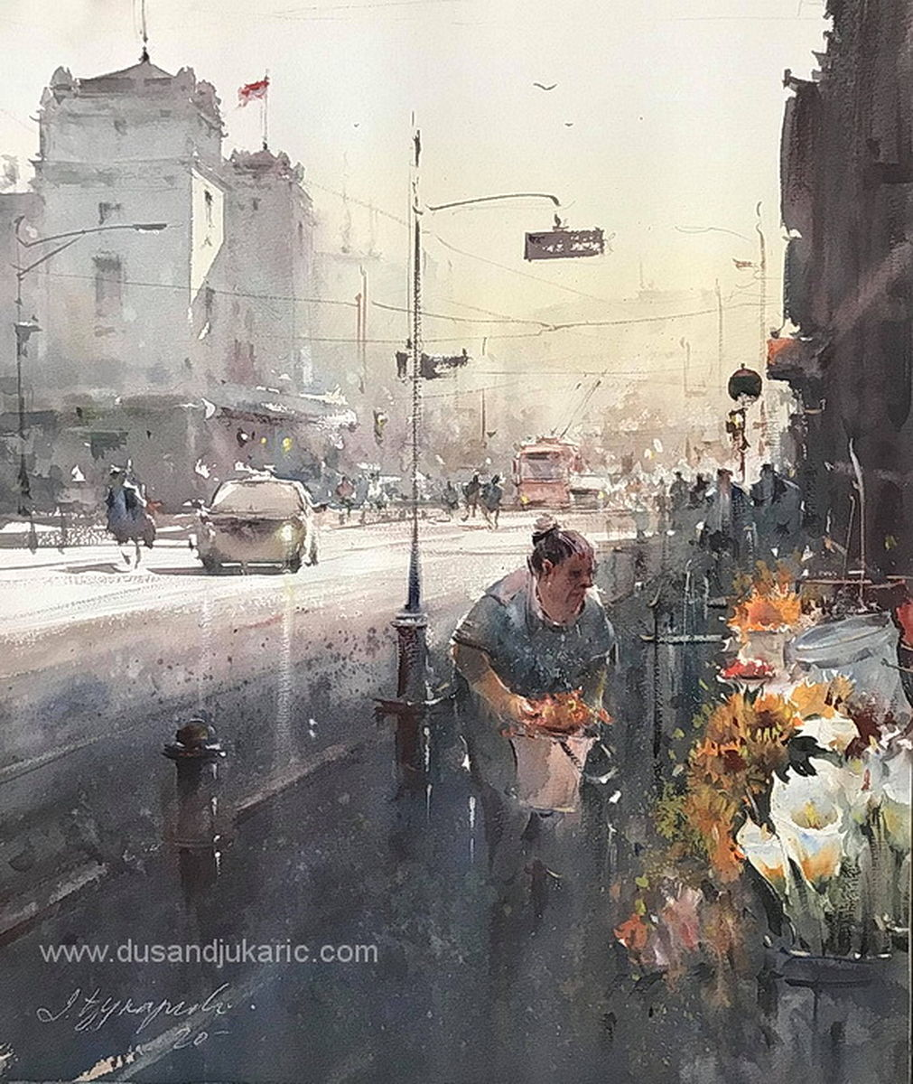 The flower seller at the National Theater,