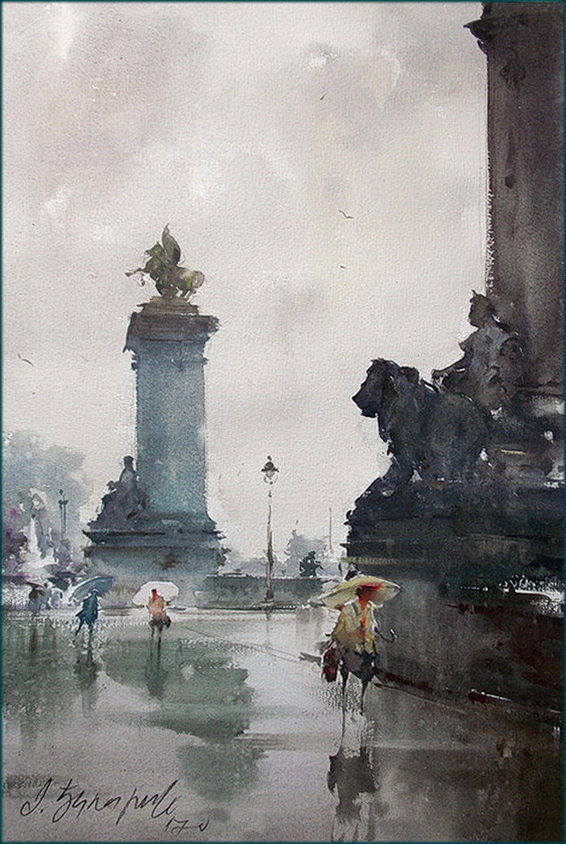 The smell of rain in Paris