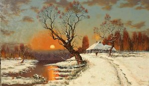 The winter sunset