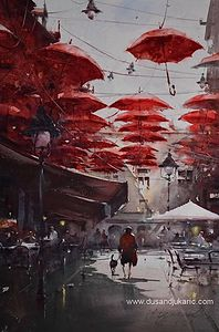 The world of red umbrellas