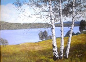 Three birch
