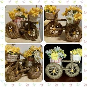tricycle from flowers