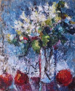 Vase with apples 1