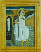 White angel - Carved wood