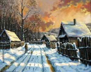 Winter in a village