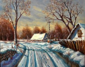 Winter in a village II